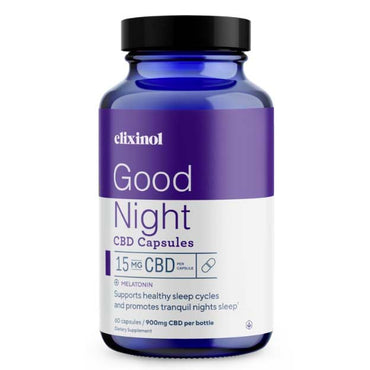 Elixinol Good Night Capsules 15mg $34.99-$64.99