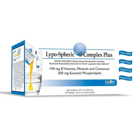LivOn Laboratories Lypo-Spheric B Complex Plus – 30 Packets