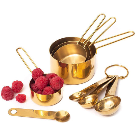 Stainless Steel Measuring Cups and Spoons Set