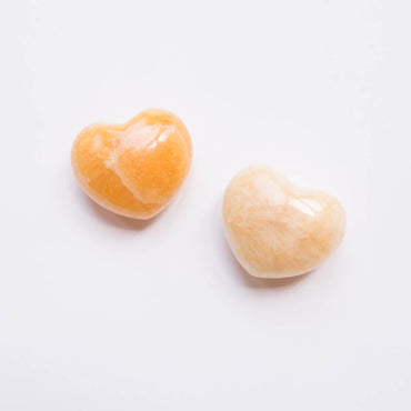 Orange Calcite Heart