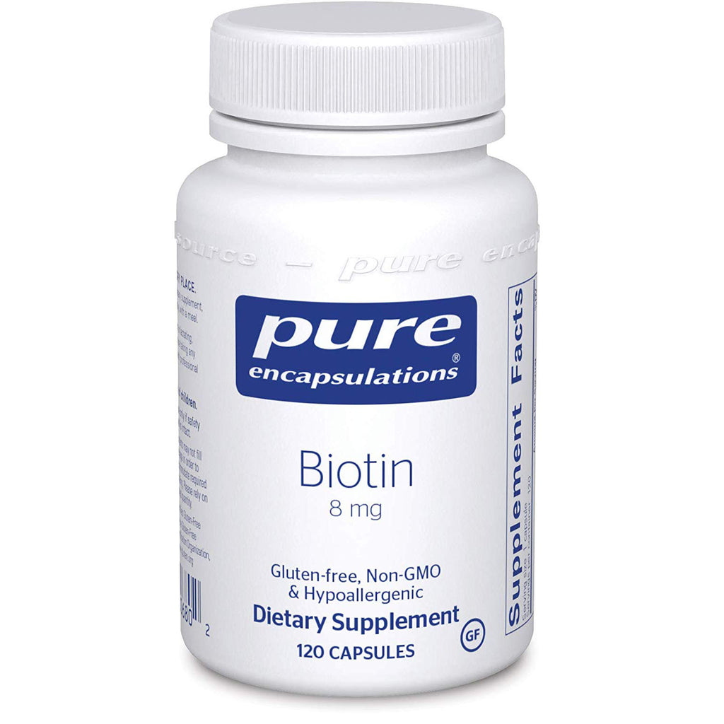 Pure Encapsulations - Biotin 8 mg - Hypoallergenic B Vitamin Supplement