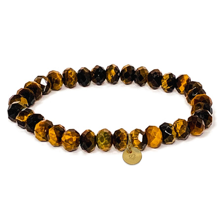 Tiger Eye Faceted Bracelet