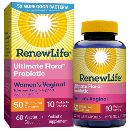 Renew Life Women's Probiotic - Ultimate Flora Women's Vaginal Probiotic Supplement