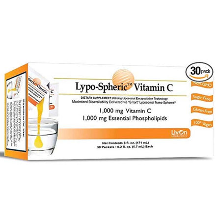 LivOn Laboratories Lypo-Spheric Vitamin C 30 Packets
