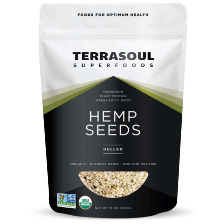 Terrasoul Superfoods Organic Raw Hemp Seeds