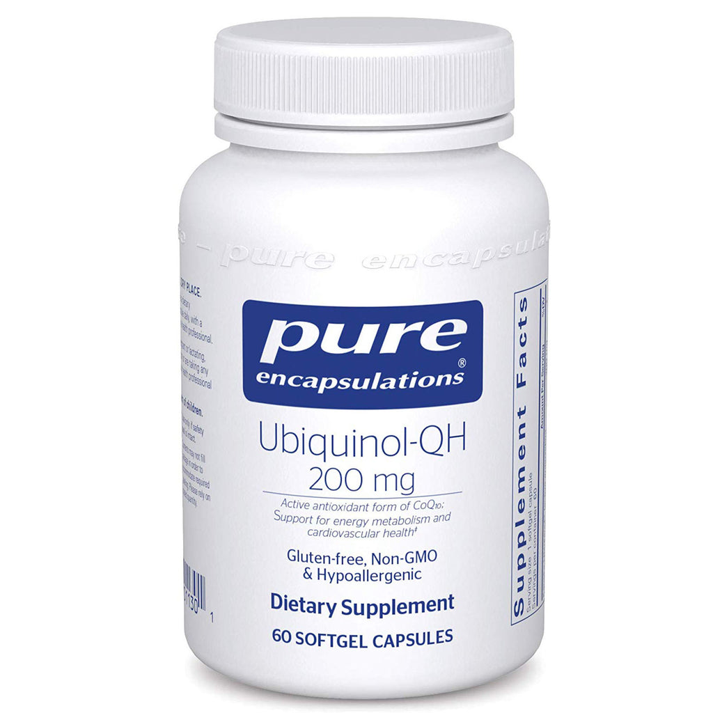 Pure Encapsulations - Ubiquinol-QH 200 mg - Hypoallergenic Supplement