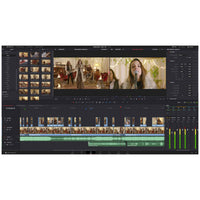 Blackmagic Design DaVinci Resolve's Edit Page optimised for editorial performance.