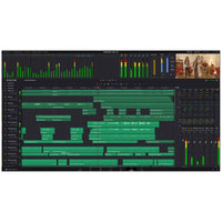 Blackmagic Design DaVinci Resolve's Fairlight audio page; a complete integrated digital audio workstation for Film and TV.