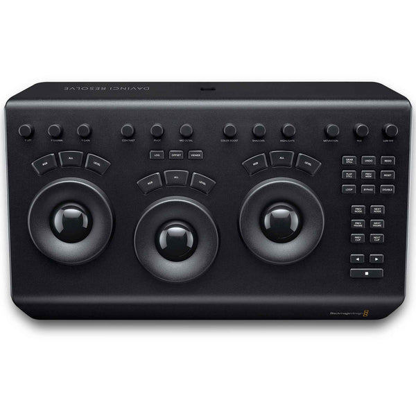 Blackmagic Design DaVinci Resolve Micro Panel with three high resolution track balls.