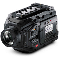 Blackmagic Design URSA Mini Pro with B4 Mount and precision optics and spherical aberration correction.