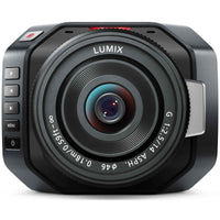 Blackmagic Design Micro Cinema Camera with Panasonic Lumix 14mm F2.5 Micro Four Thirds lens.