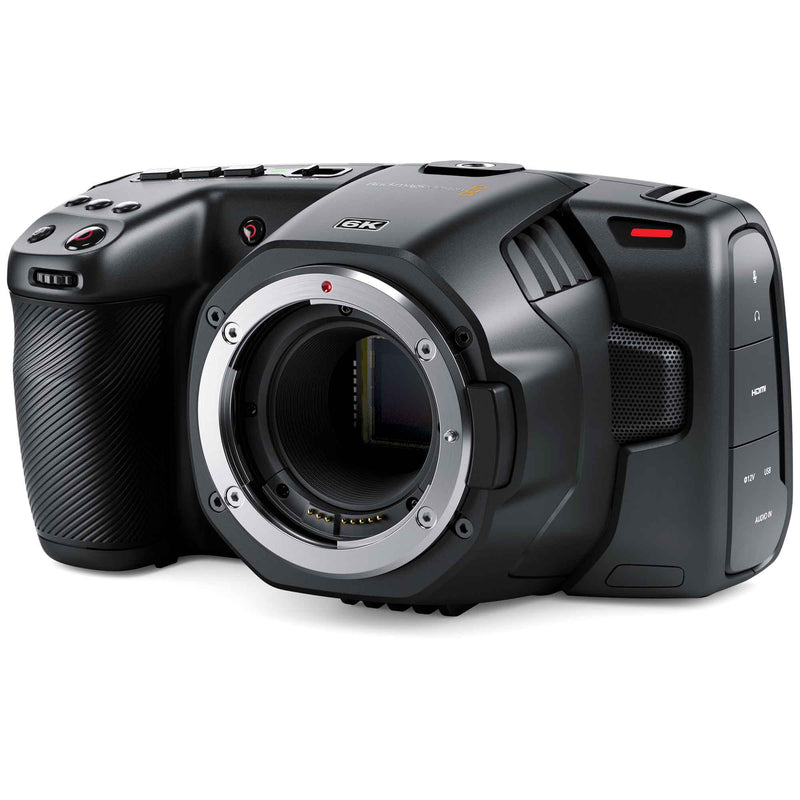 Blackmagic Design Pocket Cinema Camera 6K with Canon EF lens mount and Super 35 image sensor.