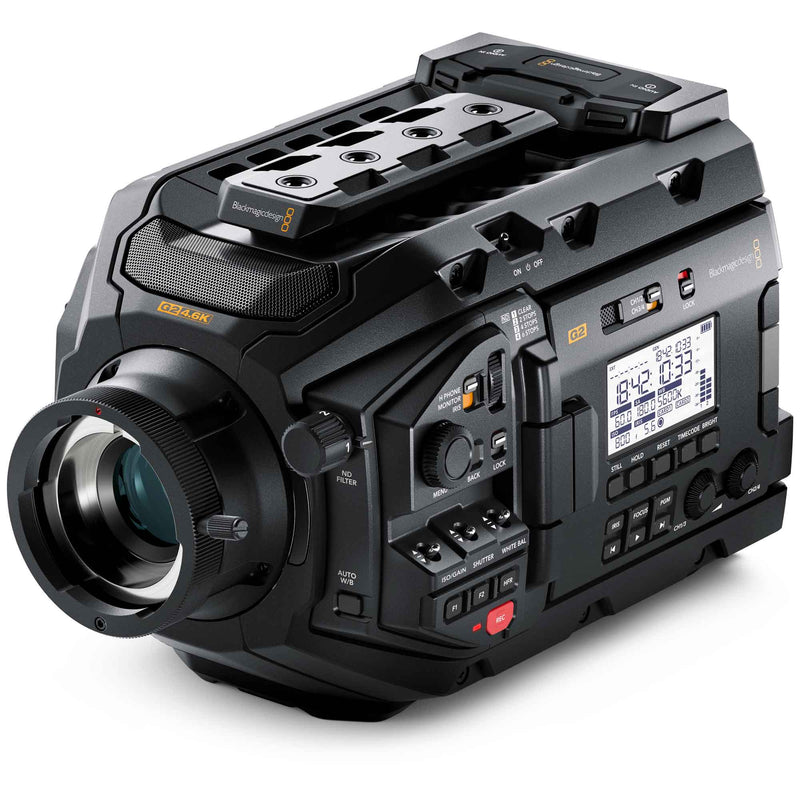 Blackmagic Design URSA Mini Pro 4.6K G2 with Broadcast Technology Association's B4 lens mount.