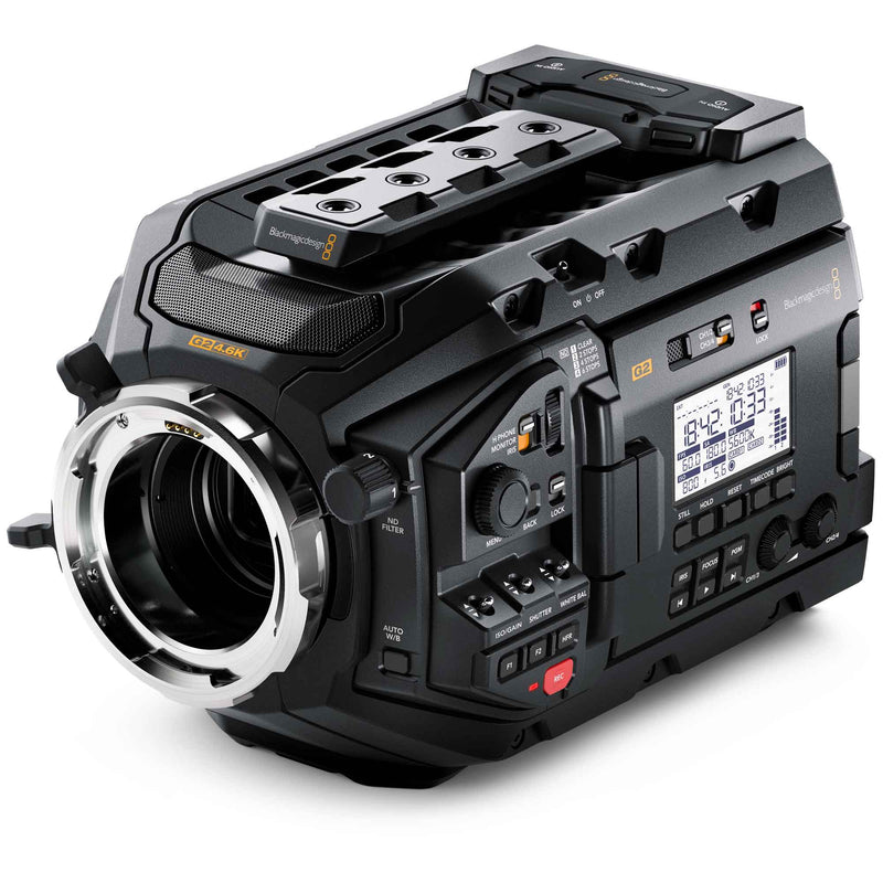 Blackmagic Design URSA Mini Pro 4.6K G2 with Arri PL lens mount.