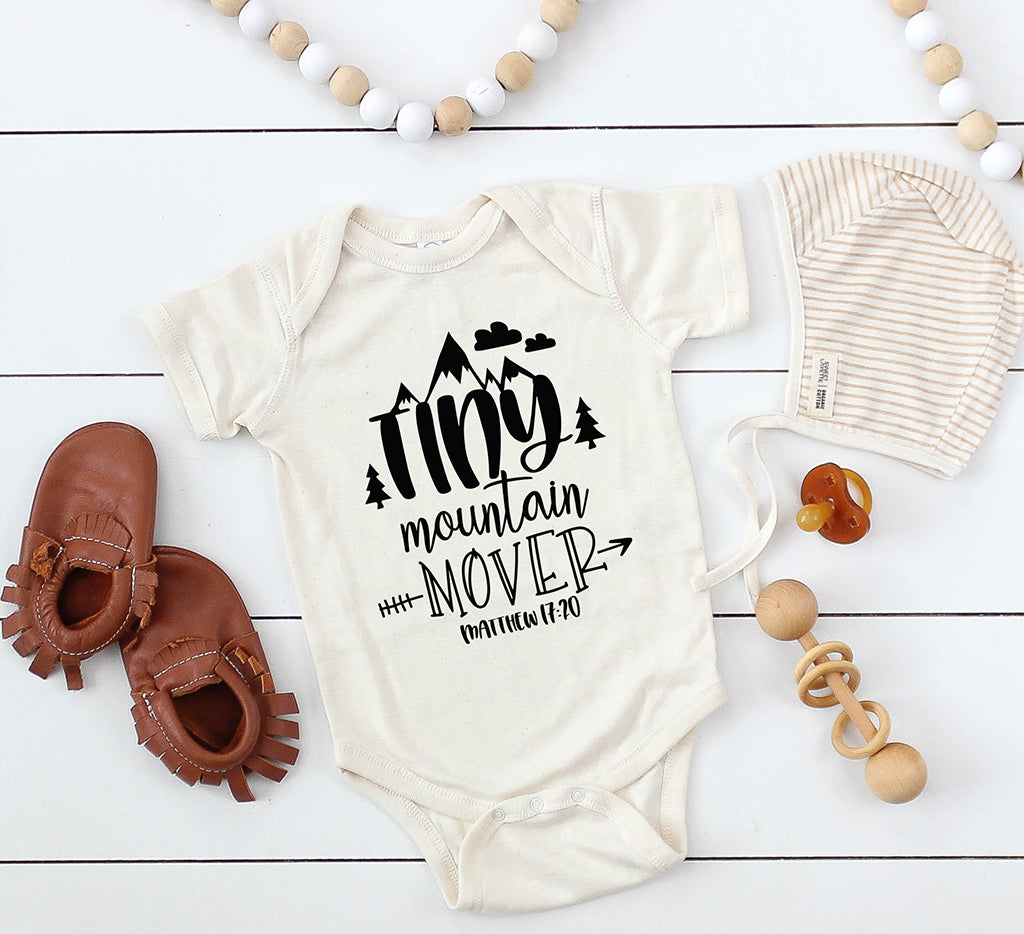 Tiny mountain mover bodysuit