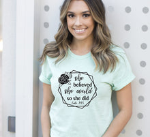 Load image into Gallery viewer, Blessed is She t-shirt