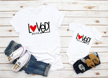 Load image into Gallery viewer, Loved John 3:16 matching bodysuit and tee