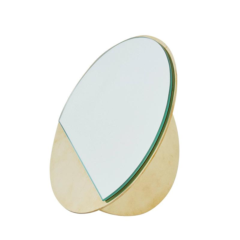 dansk design spejl messing mirror sculpture kristina dam studio