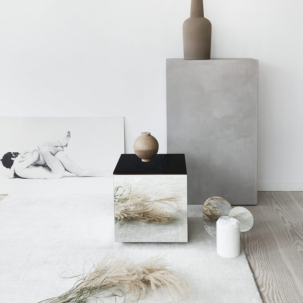 kristina dam studio black marble mirror table