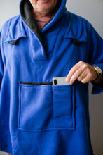 Load image into Gallery viewer, Royal Blue Fleece Bed Jacket