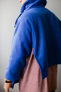 Royal Blue Fleece Bed Jacket