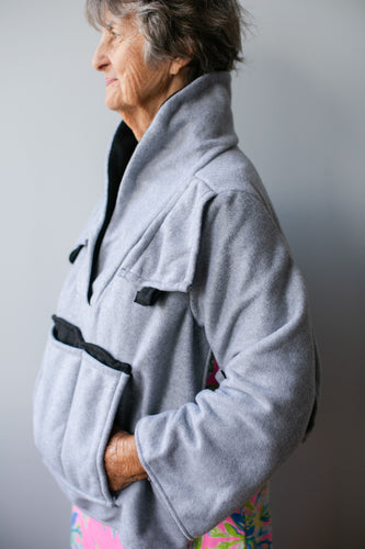Gray Fleece Bed Jacket