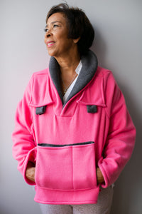 Pink Fleece Bed Jacket- LIMITED COLLECTION