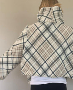 Cream/Blk/Tan Plaid Hygge Jacket