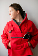 Load image into Gallery viewer, Red Fleece Bed Jacket -YL