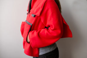 Red Fleece Bed Jacket -YL