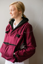 Load image into Gallery viewer, Burgundy Fleece Bed Jacket
