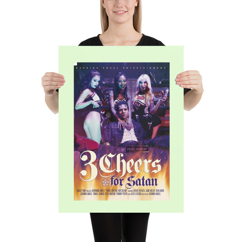 "Burning Angel | ""3 Cheers For Satan"" Poster"