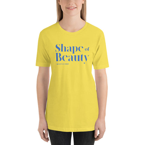 Shape Of Beauty - Yellow Short-Sleeve Unisex T-Shirt
