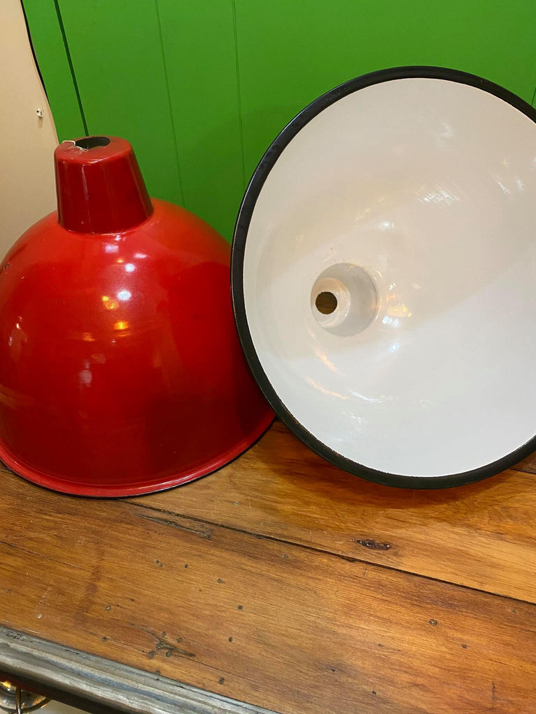 Cloche Enamel Industrial Shades (Red)