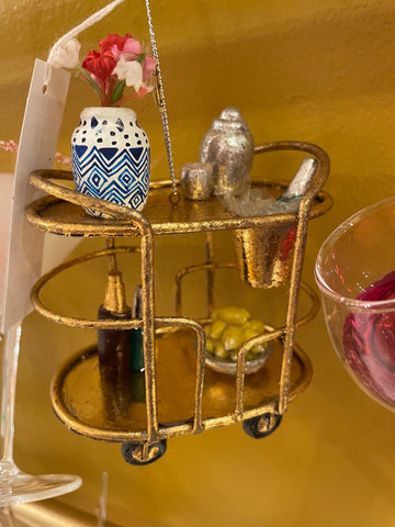 Bar Cart Ornament, Cody Foster, Dashing Trappings