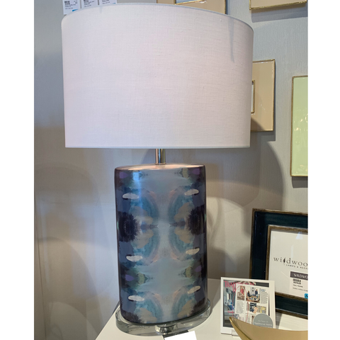 Orchid Blossom Lamp - Navy, Wildwood Lamps, Laura Park Designs
