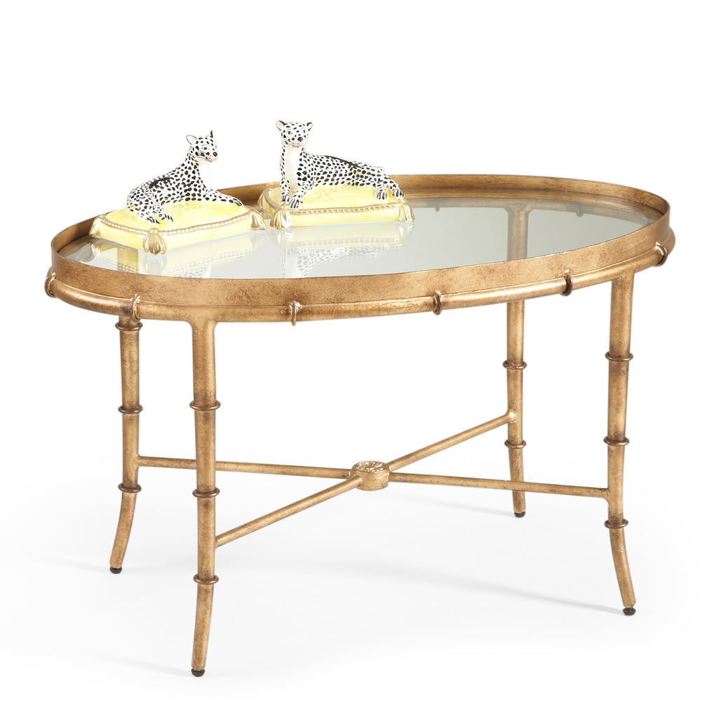 Gold Bamboo Cocktail Table - Dashing Trappings