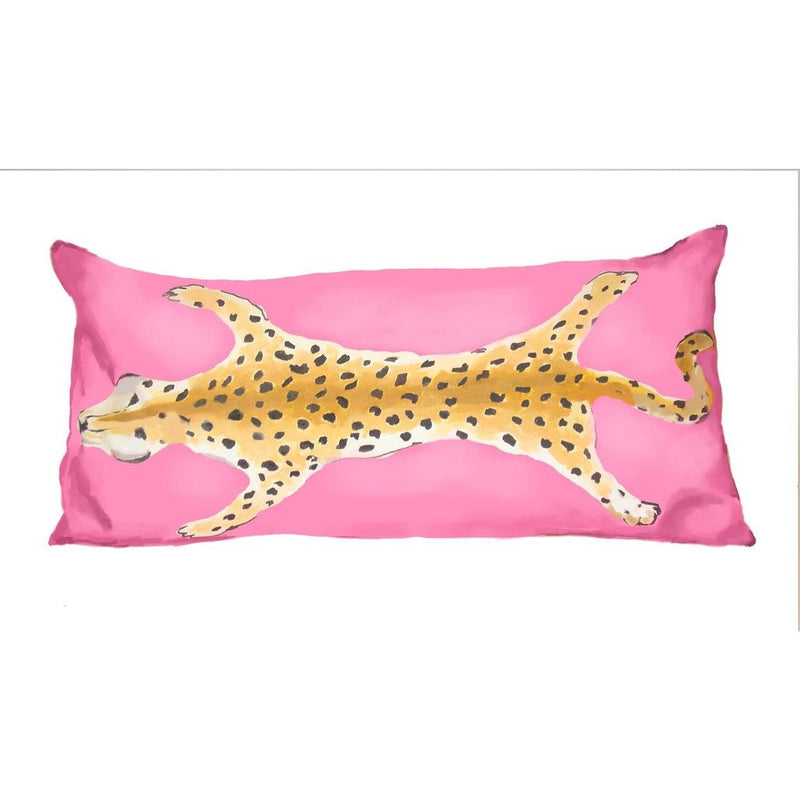 Leopard Lumbar in Pink - Dashing Trappings