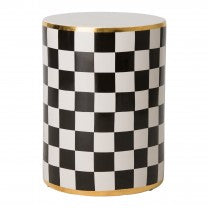 Torino Checker Garden Stool/Table - Dashing Trappings