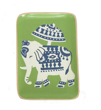 Hand Painted  Toile Elephant Tray - Dashing Trappings