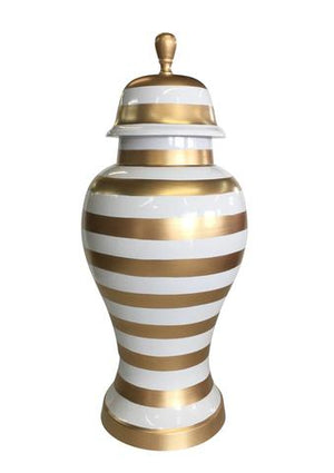 Small Ginger Jar, Gold Stripe