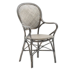 Rossini Arm Chair, Taupe, Sika Design, Dashing Trappings