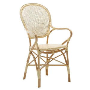 Rossini Arm Chair, Natural, Sika Design, Dashing Trappings