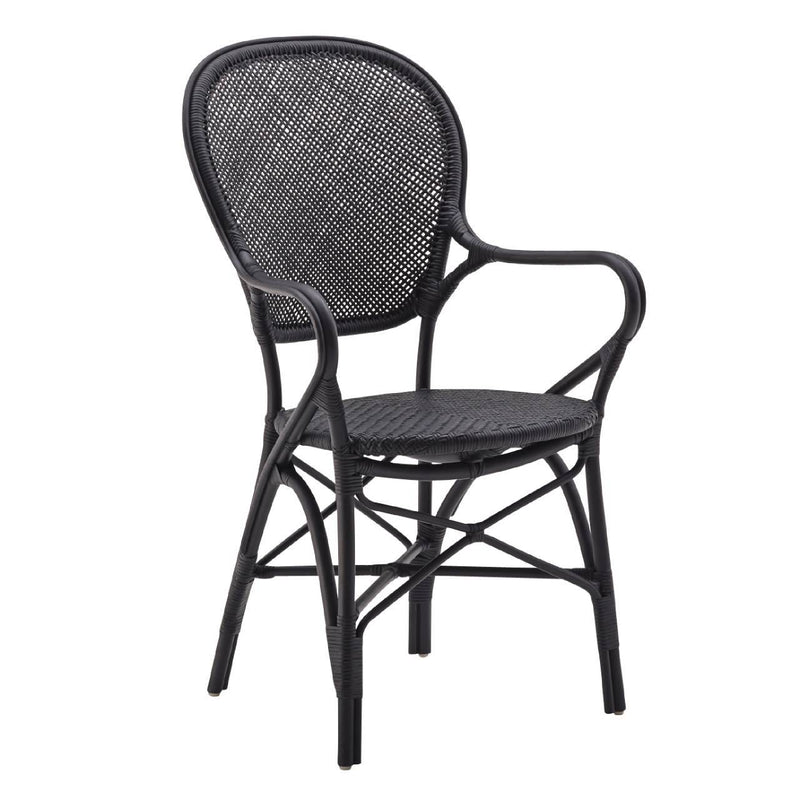 Rossini Arm Chair, Black, Sika Design, Dashing Trappings