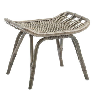 Monet Foot Stool, Sika Designs, Rattan, Dashing Trappings, Taupe