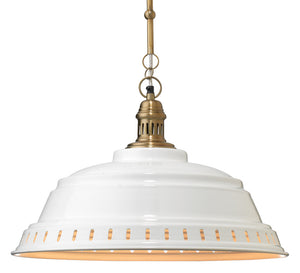 Provisions Pendant, Jamie Young, Farm House, White,  Dashing Trappings