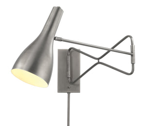 Lenz Swing Arm Wall Sconce,NIckel, Mid-Century, Jamie Young, Dashing Trappings