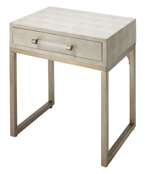 Kain Side Table, Faux Shagreen & Iron, Jamie Young, Dashing Trappings