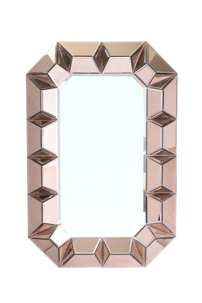 Rose Gold Wall Mirror - Dashing Trappings
