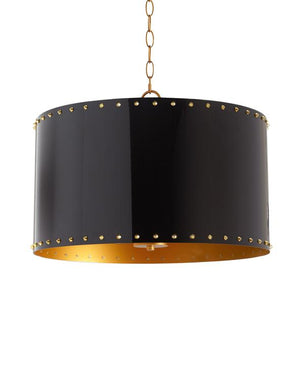 3 Light Pendant - Black and Gold - NEW, Couture Lamps